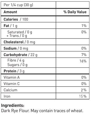 Nutrition Information